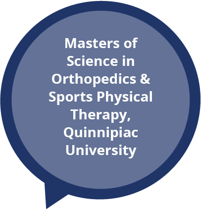 Masters of Science in Orthopedics and Sports Physical therapy Quinnipac Univeristy